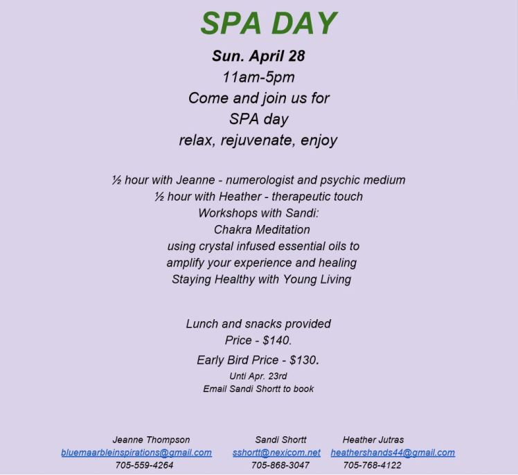 Spa Day Capture April28th